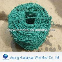 heiß eingetaucht Stacheldraht PVC-beschichtet Barbed Iron Wire Fabrik Galvanisierter Stacheldraht