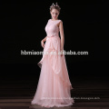 Guangdong New Coming 2017 High Quality Pink Lace Long Evening Dress