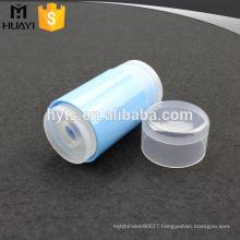 blue plastic empty deodorant stick container