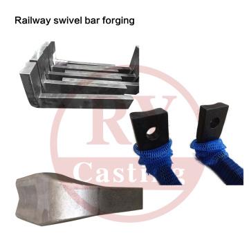 Forjando as peças para a barra da parte dianteira do giro Railway