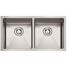 "American Standard 3219/32 ""X19"" 50/50 Hecho a mano Undermount Fregadero de acero inoxidable Doble Bowl Kitchen Sink Cupc"