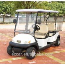 Billiger 4 Sitzer Trojan-Batterie elektrischer Golfwagen preiswerter Golfbuggywagen für Verkauf