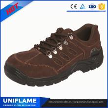 Zapatos de seguridad de la marca de la punta del pie de acero de los hombres, calzado de las mujeres Ufa106