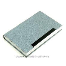 Heißer verkaufender Metall- und Leder-Visitenkarte-Kasten