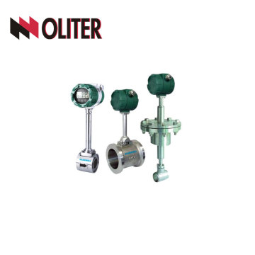 SS304 oil gas oline flowmeter hydraulic vortex flow meter with LED