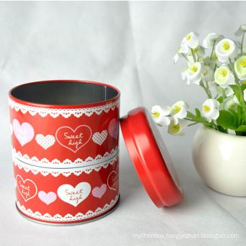 Wholesale Custom Empty Round Can Cookie Tea Metal Tin Box