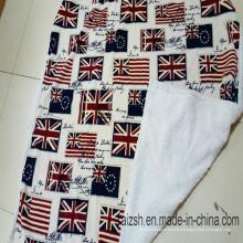 Jeté de couverture de velours de drapeau du drapeau britannique de Sherpa