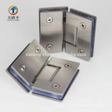 dobradiça de porta de aço inoxidável da carcaça para a porta de vidro