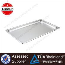 CER-industrieller quadratischer dekorativer Edelstahl-Cafeteria-Behälter