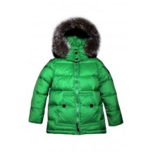 wholesale lovely green chidren's winter wear down jackets