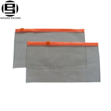 Sacs transparents de glisseur de glissière de PVC décoratifs faits sur commande pour des stylos de crayons
