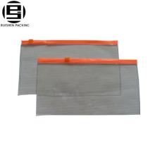 Ясные изготовленные на заказ декоративные ПВХ ziplock мешки, слайдер мешки для карандашей ручки