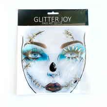 Wholesale self-adhesive acrylic crystals glitter rhinestone body face stickers for All Hallows' Day festival