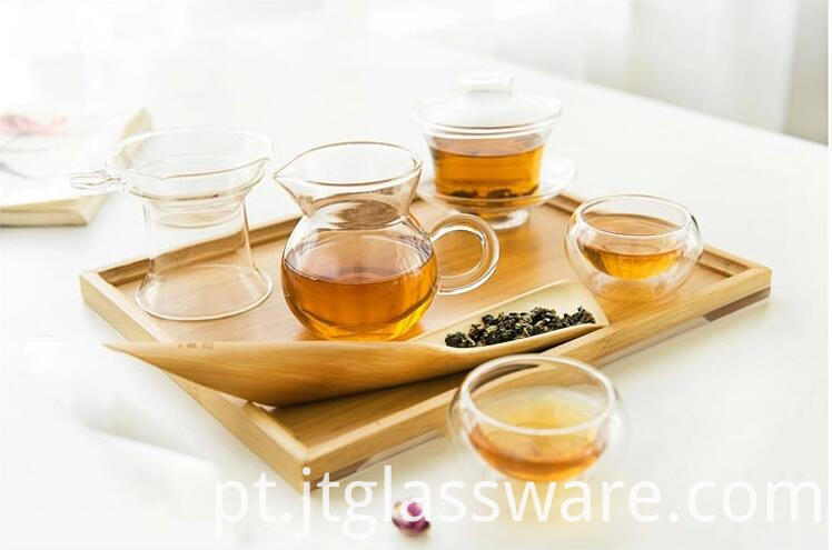 glass tea pot set
