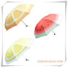 Förderung Geschenk von Mode 3 Taschenschirm mit bemalten Früchten