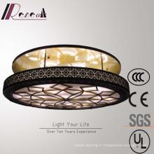 Lampe de Plafond en Verre Antique Style Chinois en Laiton Antique