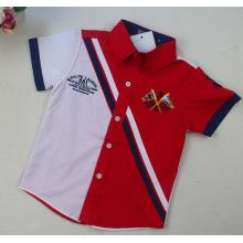 Kurzes Hülsen-Jungen-Polo-Hemd in den Kind-Kleidung-Kinder tragen Sq-17116