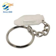 Faites votre propre logo en métal 3D porte-clés pièces ronde en forme de cadeau souvenir Unique Design Keychain