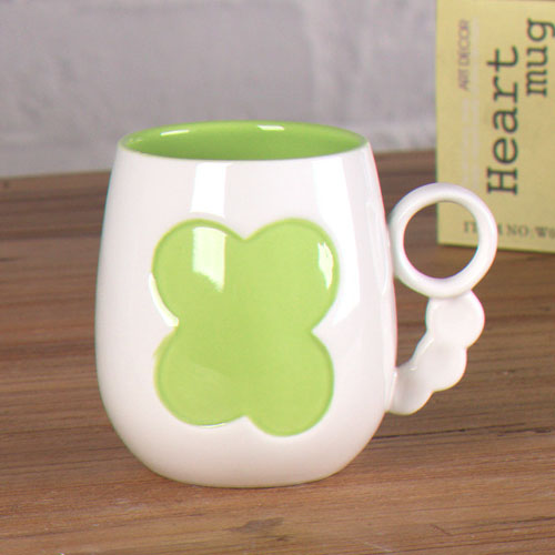 emboss heart coffee mug