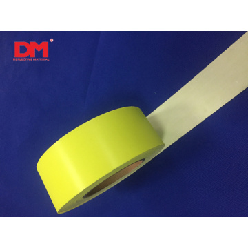 2'' High Visibility Fluorescent Yellow Reflective Flame Fire Retardant FR Fabric Tape Sew on