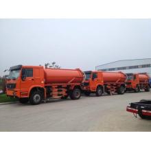 LHD o Rhd 4 X 2 HOWO 12000liters camiones de tanque de aguas residuales