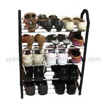5 Tiers Steel Pipe e PP Frame Metal Shoe Rack