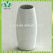 2014 домашний декор белая керамическая ваза современный дизайн