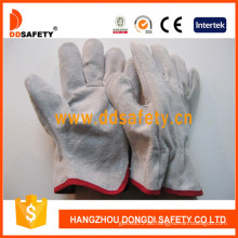 Kuh Split Leder Fahrer Winter Handschuh Sicherheits Handschuhe (DLD310)