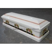 Cercueil de bois et de métal