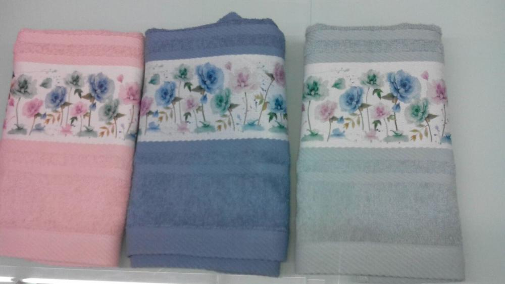 Sublimation Printed Flowers 100%Combed Cotton Bath Towel