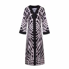 Neueste Frauen weichen Polyester billig Muslim Spandex Polyester High Fashion ein Abaya Kimono