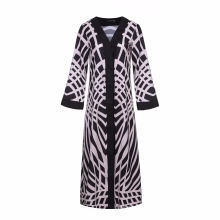 Les dernières femmes douces Polyester pas cher musulman spandex Polyester haute couture un abaya kimono
