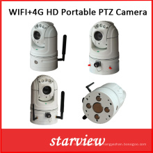 WiFi + 4G HD Portable Network PTZ Camera