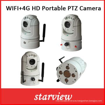 WiFi + 4G HD portátil de red de la cámara PTZ