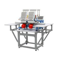 Nouveau type automatique alternatif deux têtes prix de machine de broderie informatisé