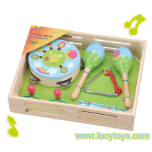 Jouet multicolore pour bébé en bois avec boîte