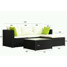 Beliebteste Rattan Sofa Set mit Tisch