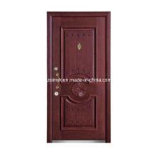 Puerta exterior de madera de acero (FXGM-A100)