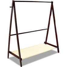 Solid Wood Laundry Drying Rack Stand Folding Cloth Coat Garment Hanger For Home
