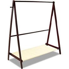 Suporte de dobramento do suporte de pano de secagem da roupa da madeira maciça que cobre o gancho do vestuário para a casa