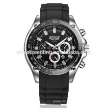 Drei Augen Quarz Markenname wasserdichte Uhren neues Silikon Uhrenband