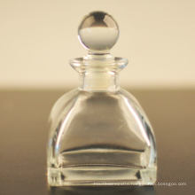 250ml Popular Square Glass Diffuser Bottle with Glass Lid