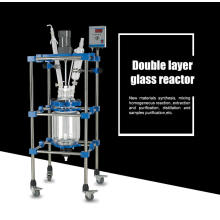 Reactor de vidrio con revestimiento doble 50L con velocidad de rotación constante para la síntesis de biofármacos