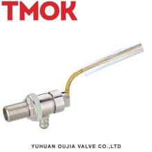 válvula de flotador del nivel de agua del tanque de agua pequeño de cobre amarillo