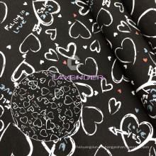 Amor corazón patrones 250GSM tejido tela de la lona