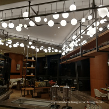 Ball copper glass bead oversized chandeliers for foyer