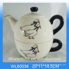 Creativedecal Ente Keramik 2pc Teekanne Set