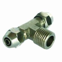 Neumático Fitting/One toque bronce accesorio (tee conector recto macho)