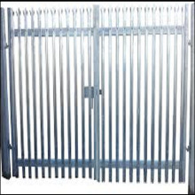 1.8m high x 3mtr wide galvanized double leaf palisade gate