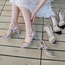The new transparent crystal heel shoes of 2021 are supplied by foreign trade manufacturers